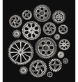 Cogwheels and gears vector image