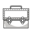 line elegant briefcase to save important document vector image