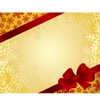 Red bow on a red ribbon with white background vector image