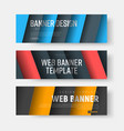 set of banners with diagonal colored lines with vector image