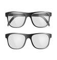 set of black glasses isolated on white background vector image