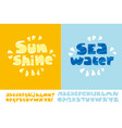 sunshine and seawater summer text poster vector image