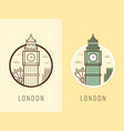 world landmarks united kingdom travel and vector image
