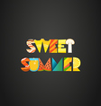 Sweet summer concept of color letters vector image