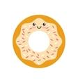 donut kawaii character isolated icon vector image