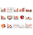 simple color financial management reports icon vector image vector image