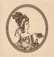 vintage lady vector image