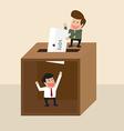 Businessman voting vector image