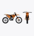 Cartoon motocross motorbike vector image