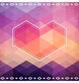 Abstract geometric pattern with pink heart vector image