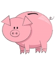 the moneybox pig on white background vector image