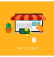 Online Shopping Bue Per Click Flat Concept for vector image