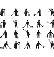Pictogram people cleaning vector image vector image