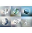 Set of Polygon patterns with the reflection vector image