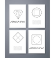 Set of sharp mistical line logos vector image