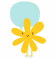 Flower character vector image