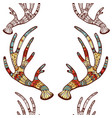 a seamless texture with antlers vector image