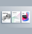 abstract minimal brochure design template size a4 vector image