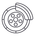 disc brakecar service line icon sign vector image