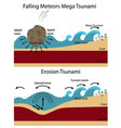 establishment of tsunami vector image