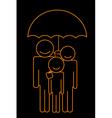 family under umbrella vector image