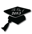 Graduation hat for the class of 2013 vector image