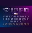 retro disco style font made of stars super star vector image