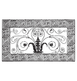 Roman mosaic engraving vector image