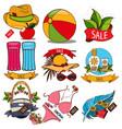 set of of summer vacation resort sale of summer vector image