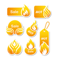 Hot sale paper cut labels vector image vector image