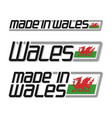 made in wales vector image