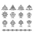 native tribal icon set vector image