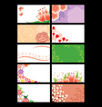 Flower greeting card vector image