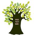 Oak tree - frame for text funny design vector image