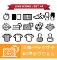 Soccer football Line icons set 44 vector image vector image