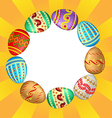 eggs background vector image vector image