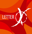 logo letter X on a red background vector image