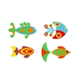 Aquatic fish wildlife aquarium underwater nature vector image