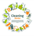 Clean abstract color icons set vector image