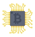Computer chip for bitcoin mining vector image