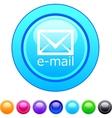 E-mail circle button vector image