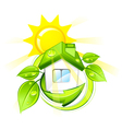 green eco home vector image