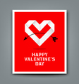 Happy valentine day origami heart paper vector image