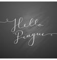 hello prague lettering vector image