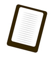 isolated note paper vector image