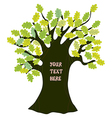 Oak tree - frame for text funny design vector image