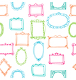 Seamless pattern with colorful frames vector image