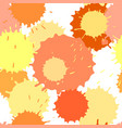 seamless pattern with ink and paint spots vector image