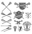 Set of lacrosse design elements vector image