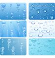 Water set vector image
